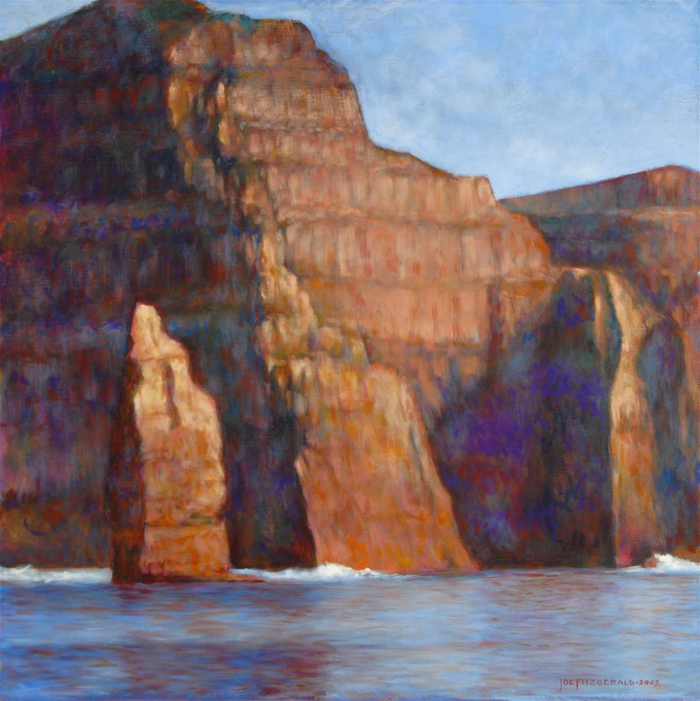 """Moher Rising From the Sea III"" original fine art by Joe Fitzgerald"