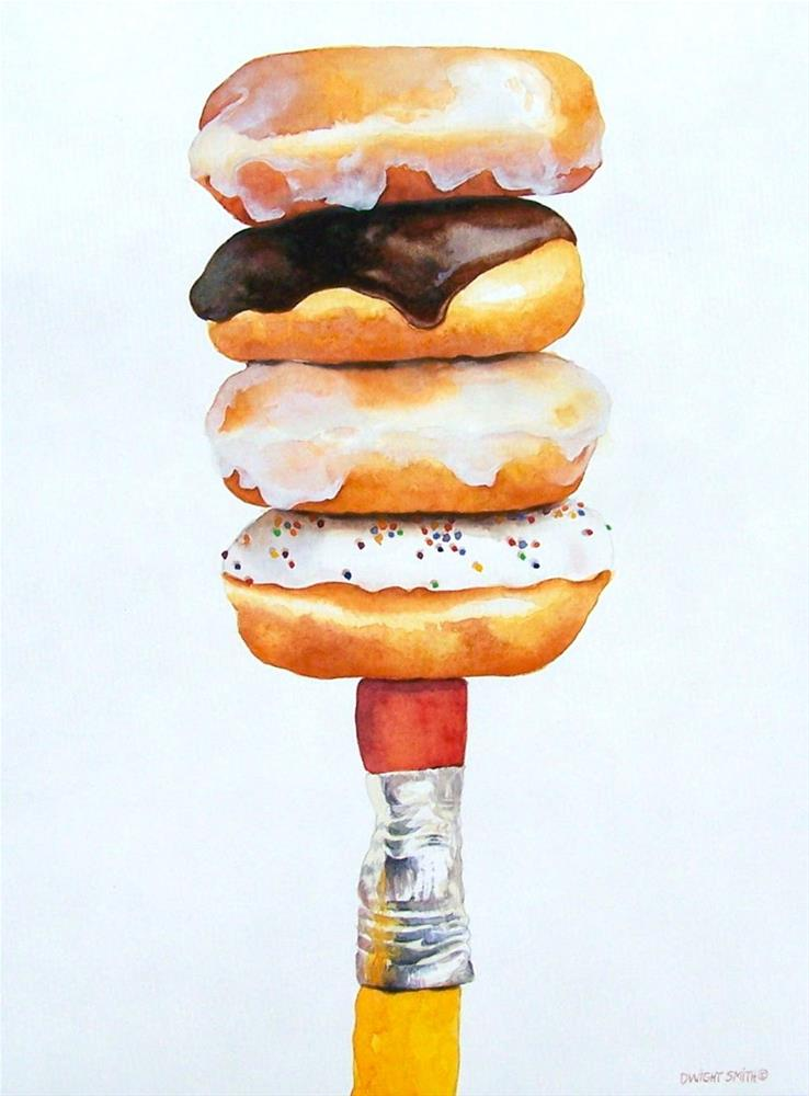 """"""" COUNTING CALORIES """" original fine art by Dwight Smith"""