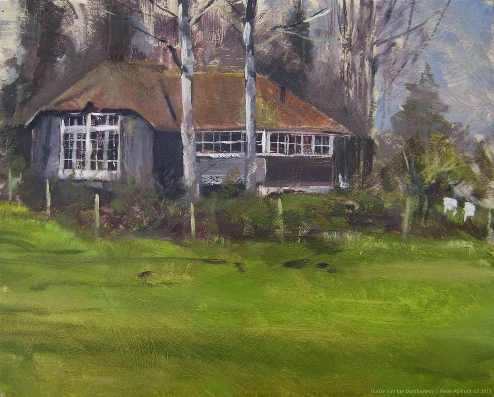 """Huisje van Ine Doetinchem The Netherlands"" original fine art by René PleinAir"