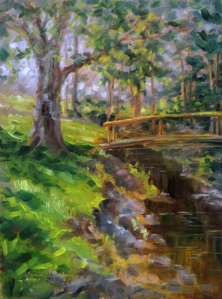 """Peace at the Footbridge"" original fine art by Tammie Dickerson"