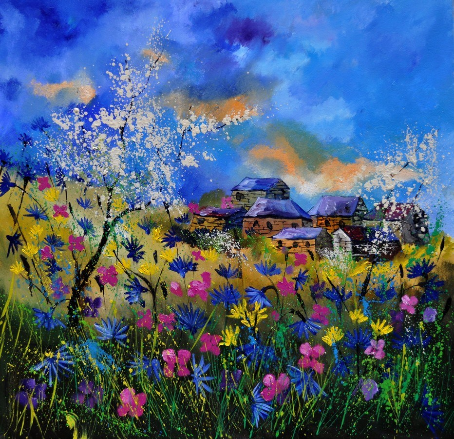 """summer 7741"" original fine art by Pol Ledent"