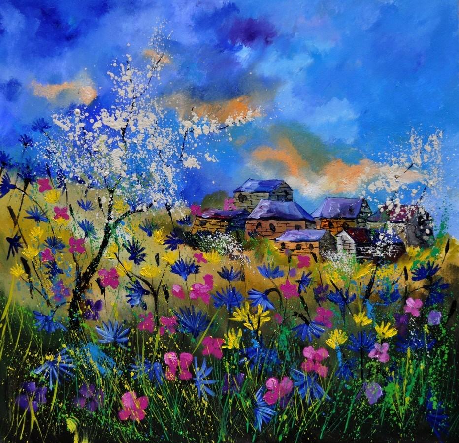"""summer 7741"" original fine art by Pol Ledent"
