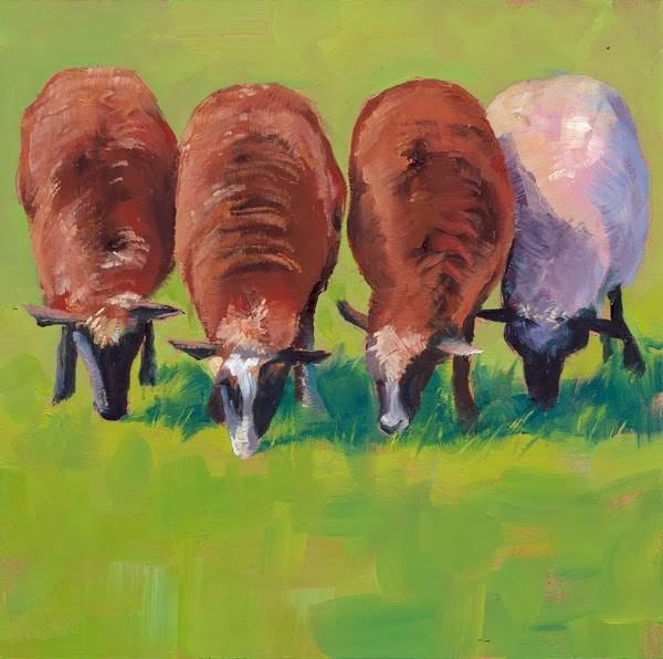 """""""White Sheep of the Family"""" original fine art by Brenda Ferguson"""
