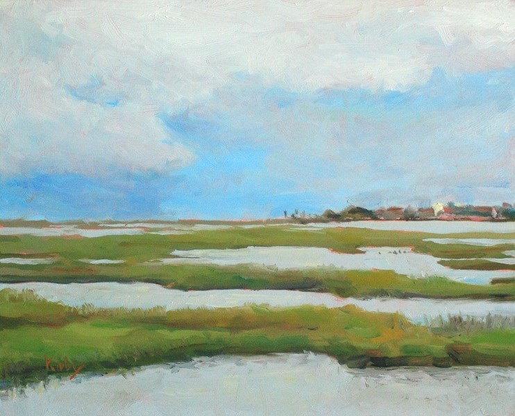 """Tiki Island"" original fine art by Randall Cogburn"