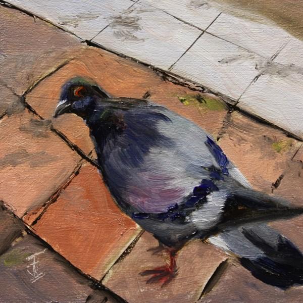"""Winged Scavenger"" original fine art by Jane Frederick"