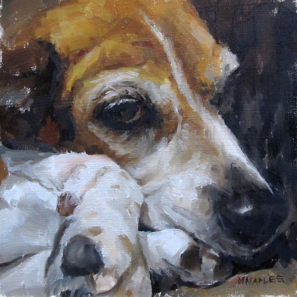"""Maryann the Beagle"" original fine art by Michael Naples"