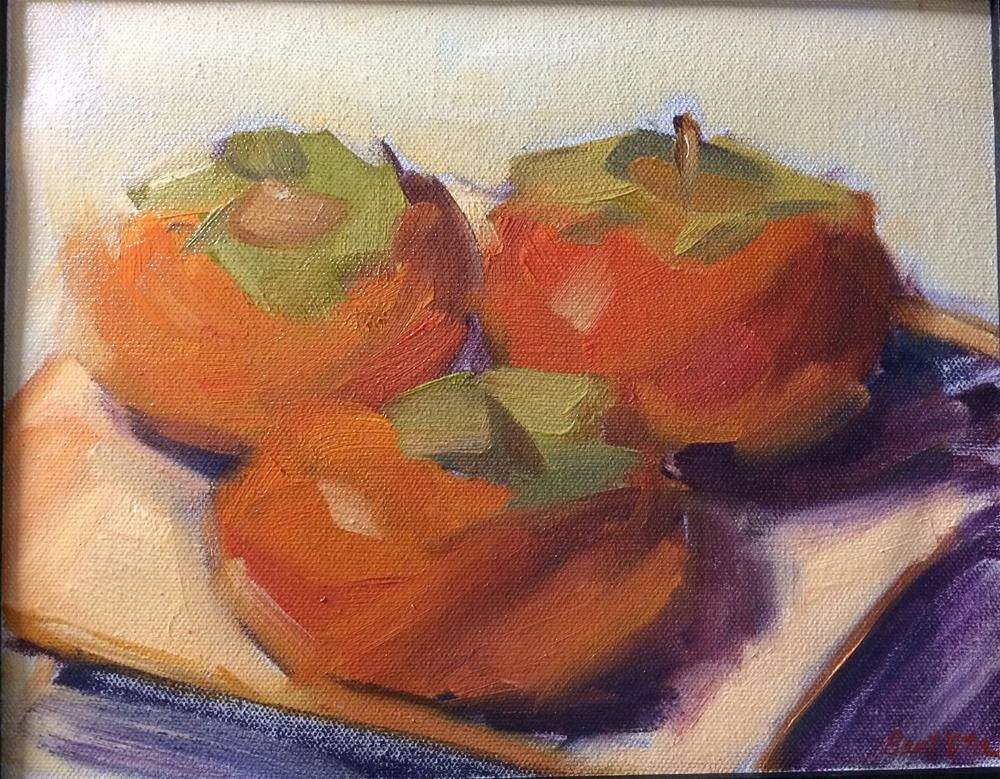 """Persimmons"" original fine art by Naomi Bautista"