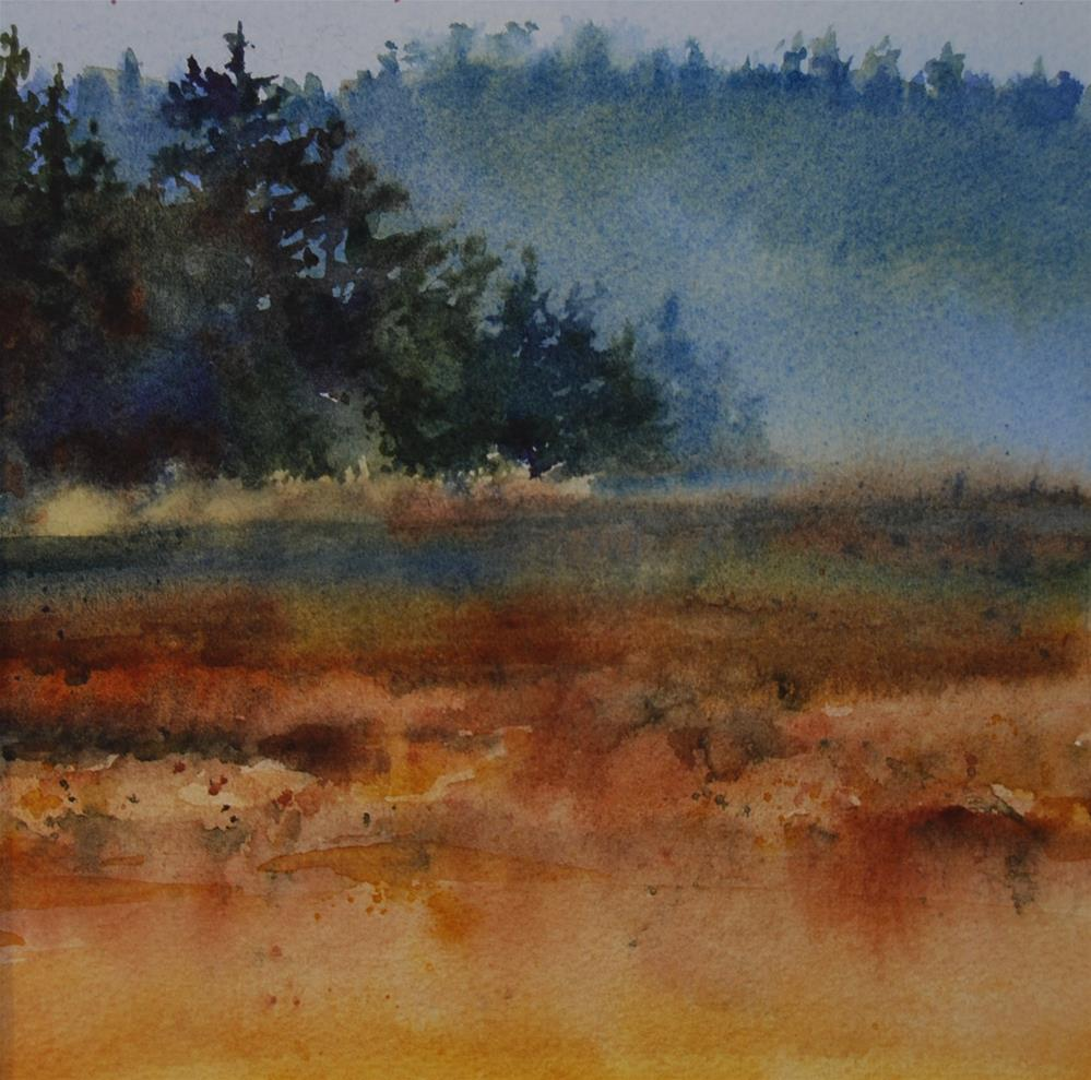 """Misty Wetlands"" original fine art by Mary Anderson"