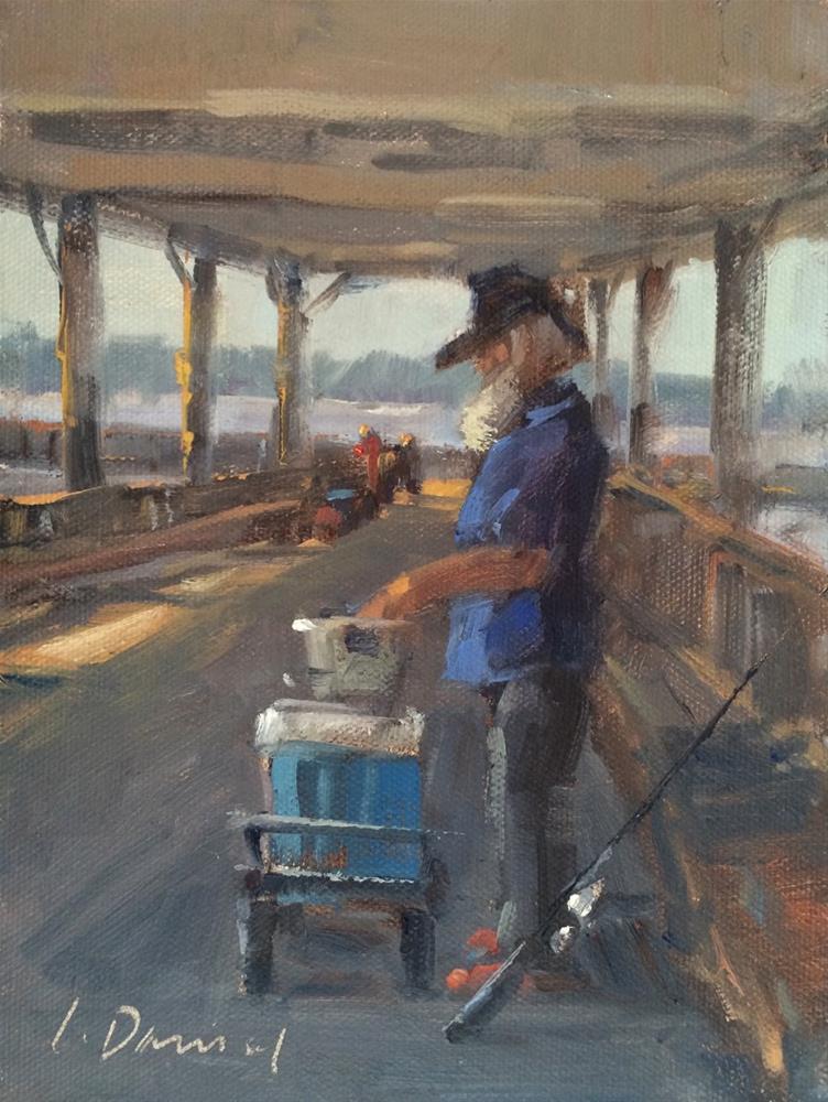 """Gone Fishing"" original fine art by Laurel Daniel"