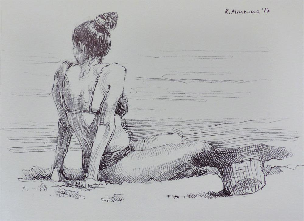 """hanasketching11"" original fine art by Katya Minkina"