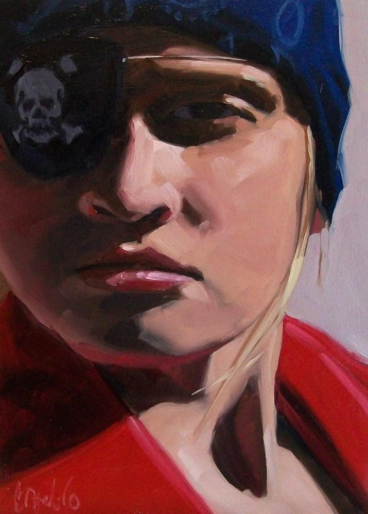 """The pirate"" original fine art by Brandi Bowman"