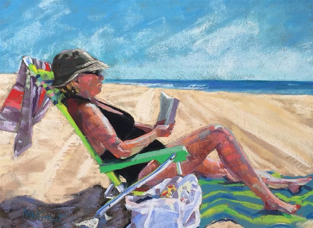 """""""Beach Novel"""" original fine art by Michelle Wells Grant"""