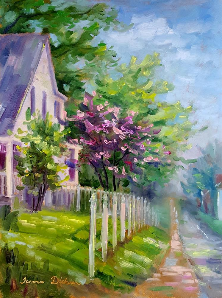 """Dogwood on 3rd Street"" original fine art by Tammie Dickerson"