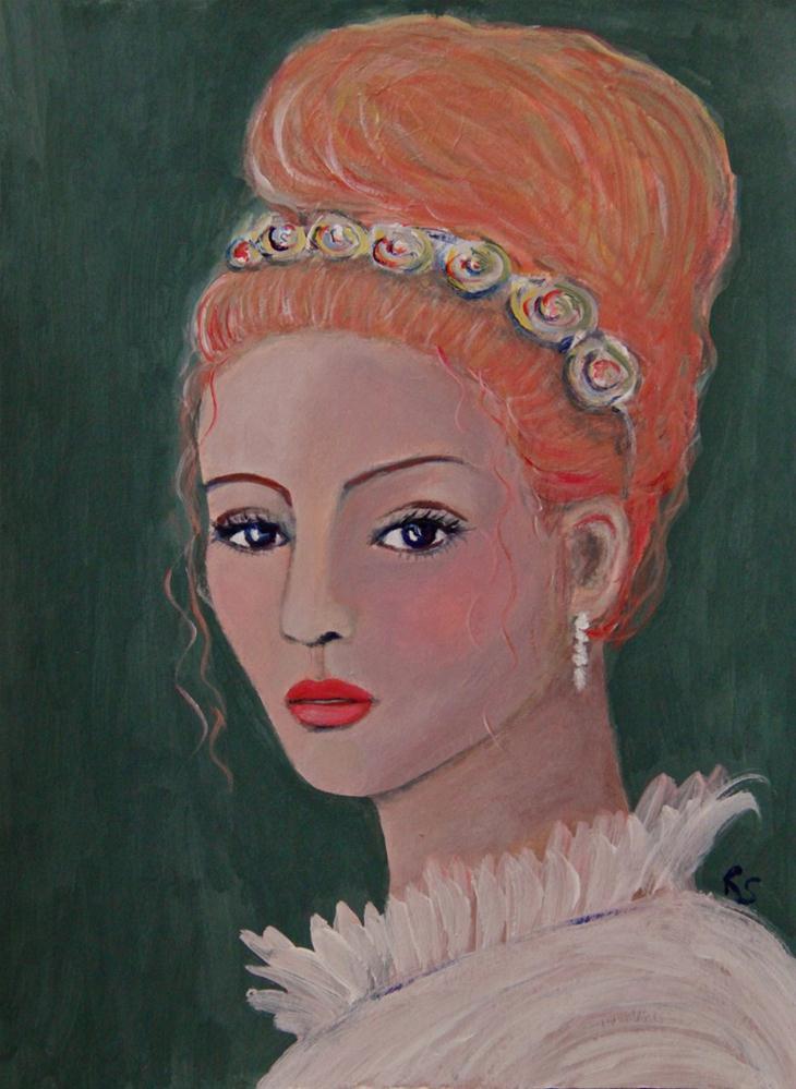 """Lady Karolina"" original fine art by Roberta Schmidt"
