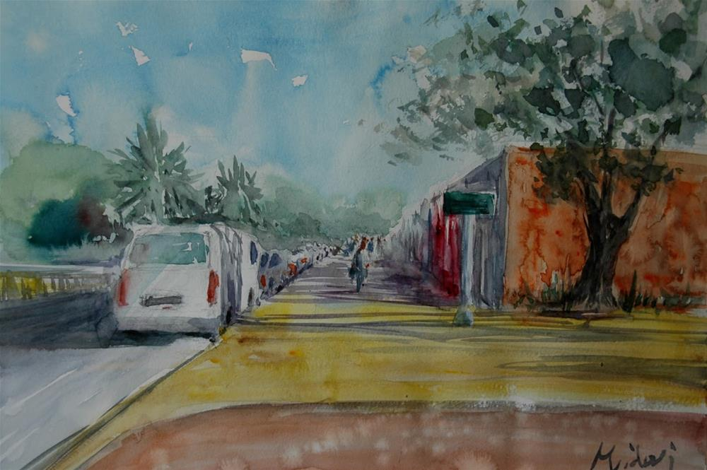 """Seen near Deer RA in Al Ain"" original fine art by Midori Yoshino"