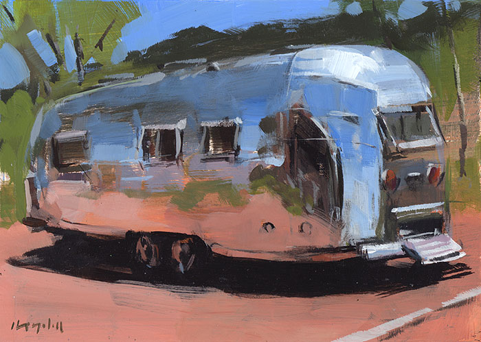 """Airstream at Palo Duro"" original fine art by David Lloyd"