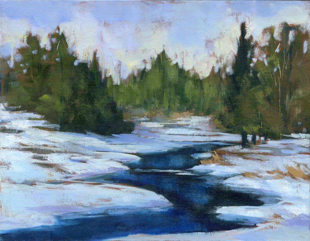 """""""First snow 11x14"""" original fine art by Eileen Hennemann"""