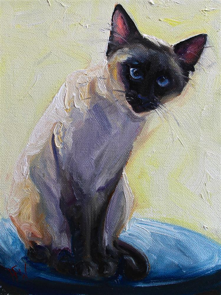 """Siamese"" original fine art by H.F. Wallen"