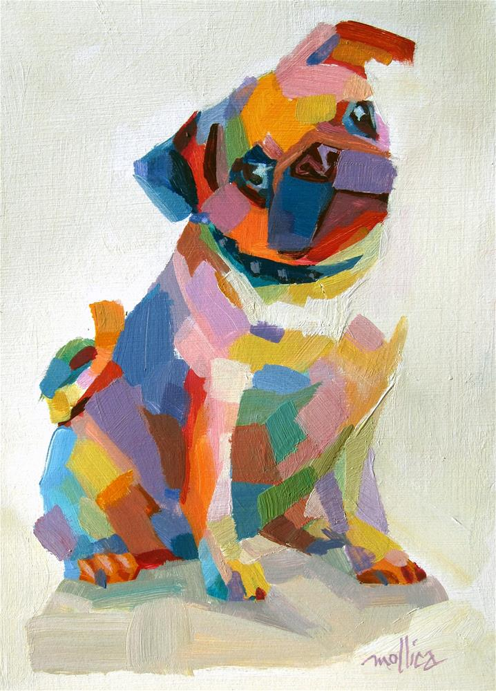 """Personable Pug"" original fine art by Patti Mollica"