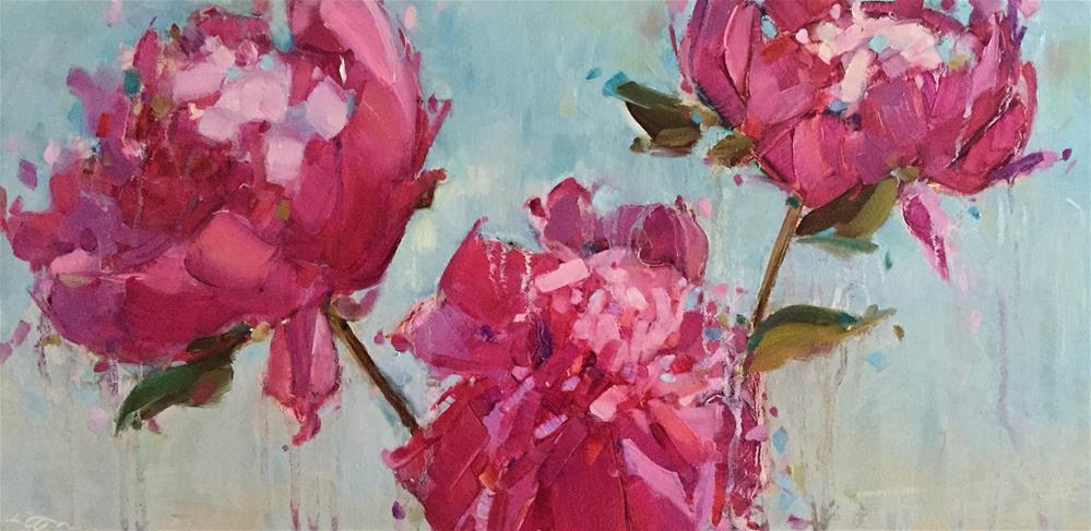 """""""Peonies in December"""" original fine art by Kathleen Broaderick"""