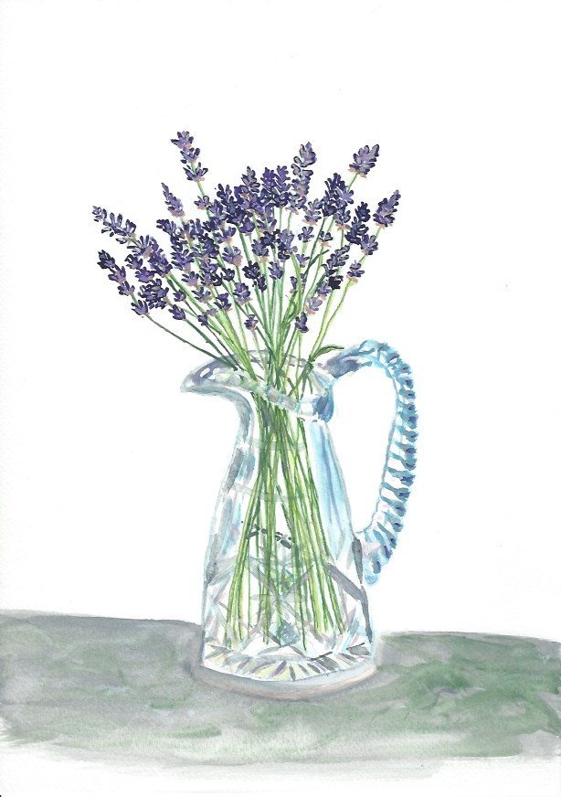 """Lavender in Crystal"" original fine art by Laura Denning"