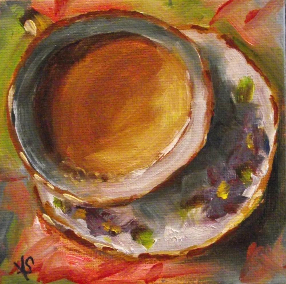 """Morning Coffee"" original fine art by Angela Sullivan"