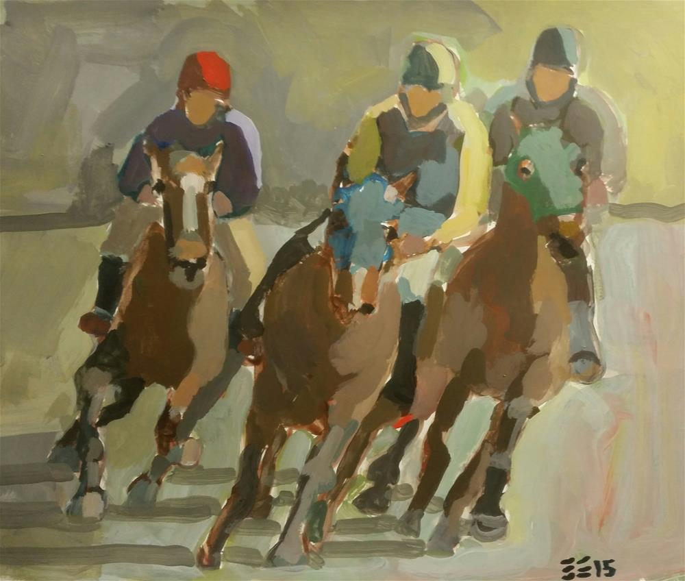 """The Race"" original fine art by Liz Maynes"