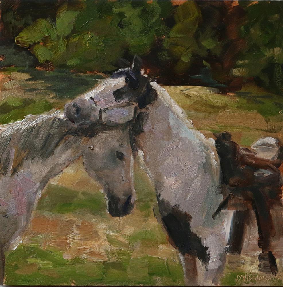 """""""cuddles"""" original fine art by Miranda Dalessi"""