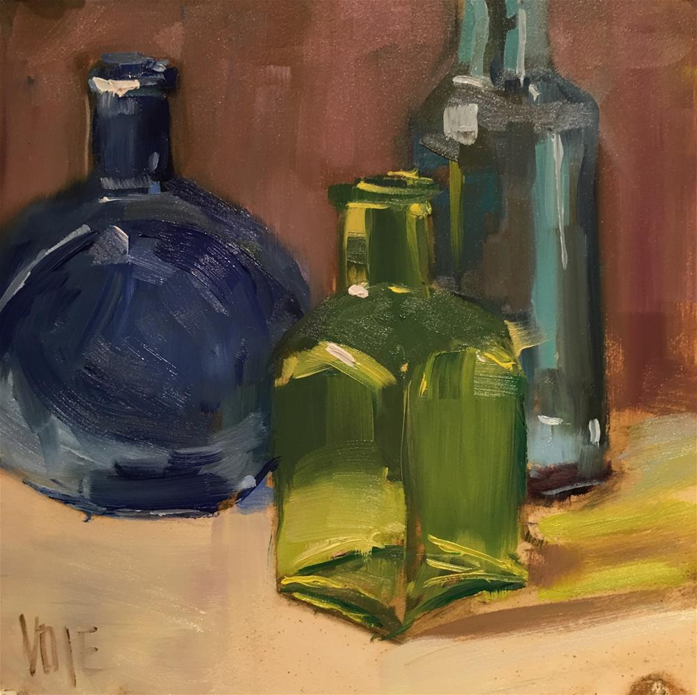 """#483 Tiny Bottles"" original fine art by Patty Voje"