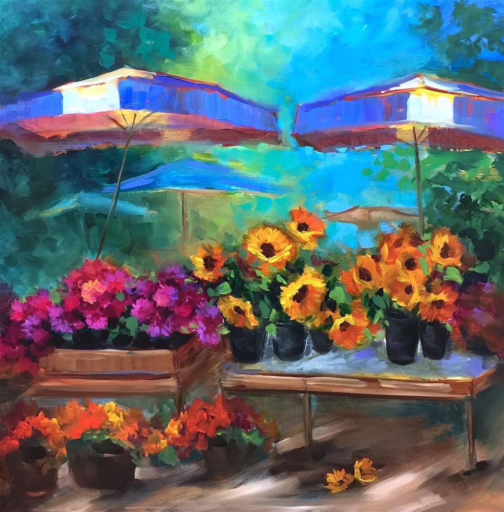 """French Market Bargain Bin"" original fine art by Nancy Medina"