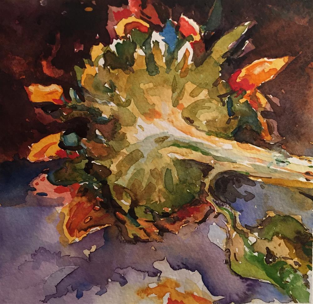 """Sunflower"" original fine art by Laurie Maher"
