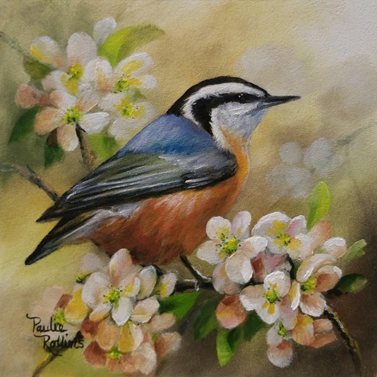 """""""Warm Spring Day"""" original fine art by Paulie Rollins"""