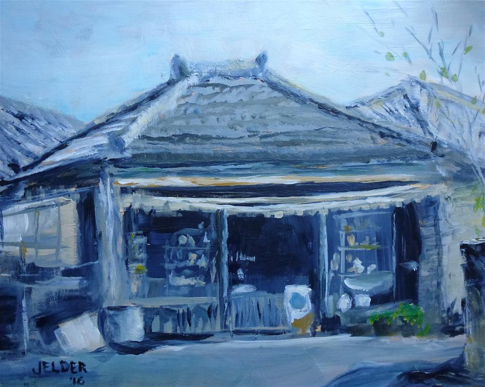 """Corner Store"" original fine art by Judith Elder"