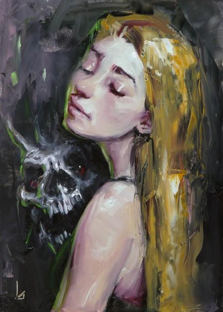 """""""Possessed"""" original fine art by John Larriva"""