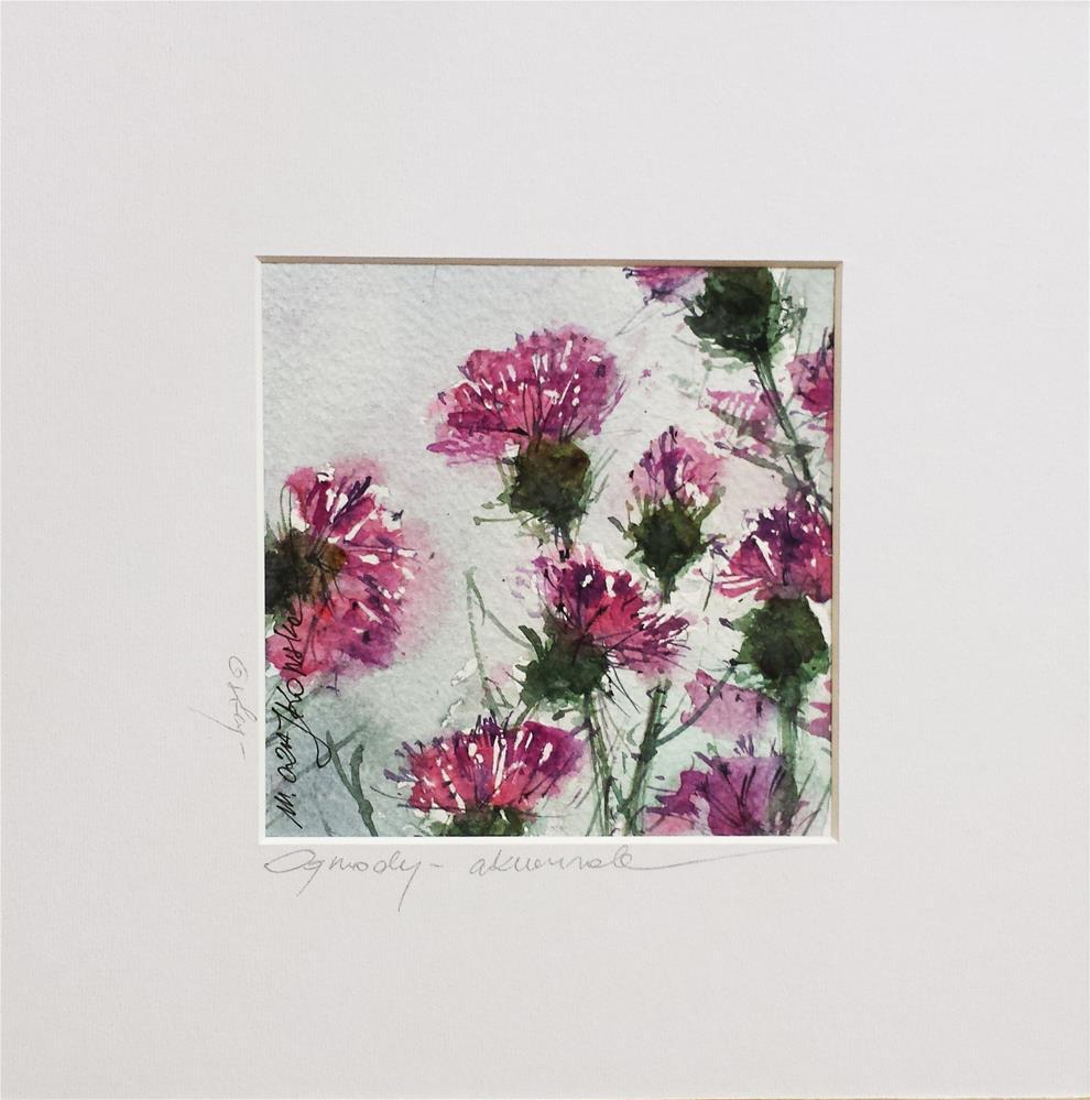 """Thistles 2"" original fine art by Marlena Czajkowska"