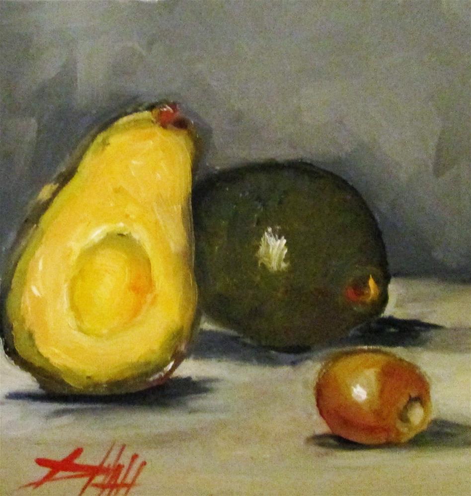 """Avocado Still Life "" original fine art by Delilah Smith"