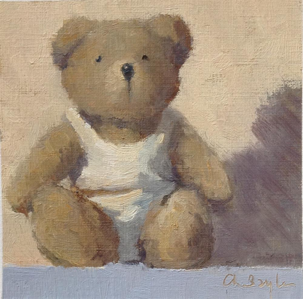 """Old teddy"" original fine art by Christine Bayle"
