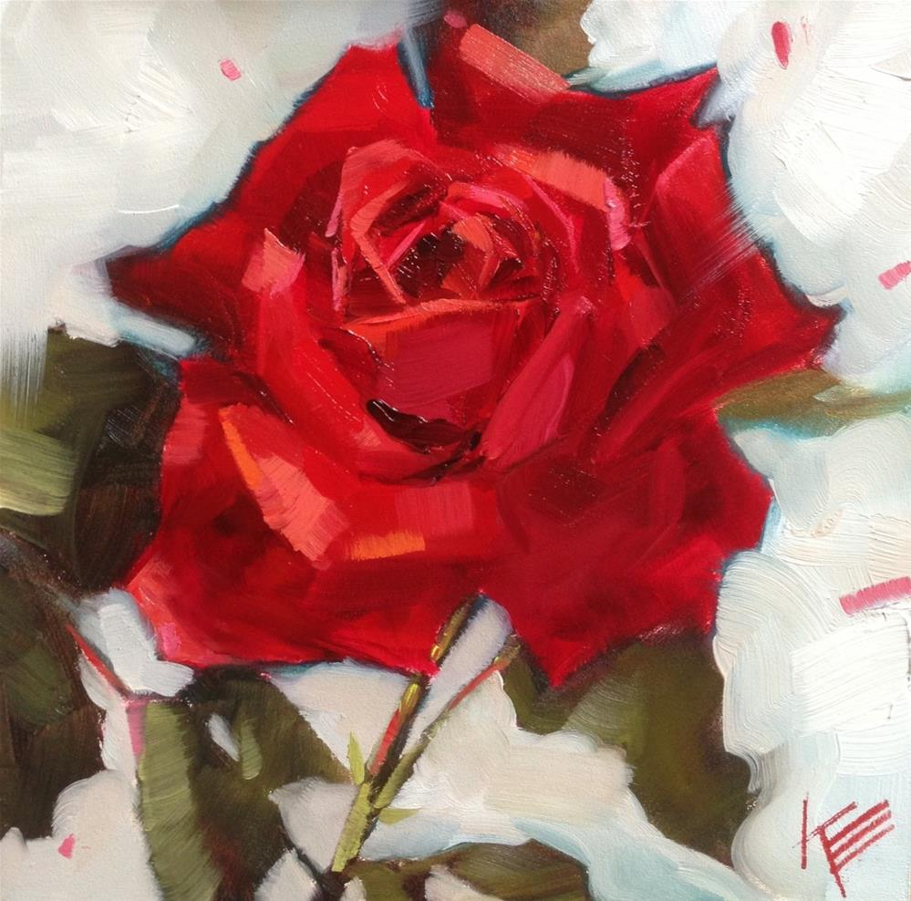 """Sweet Rose"" original fine art by Krista Eaton"
