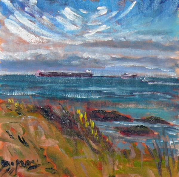 """Holland Point Sky"" original fine art by Darlene Young"