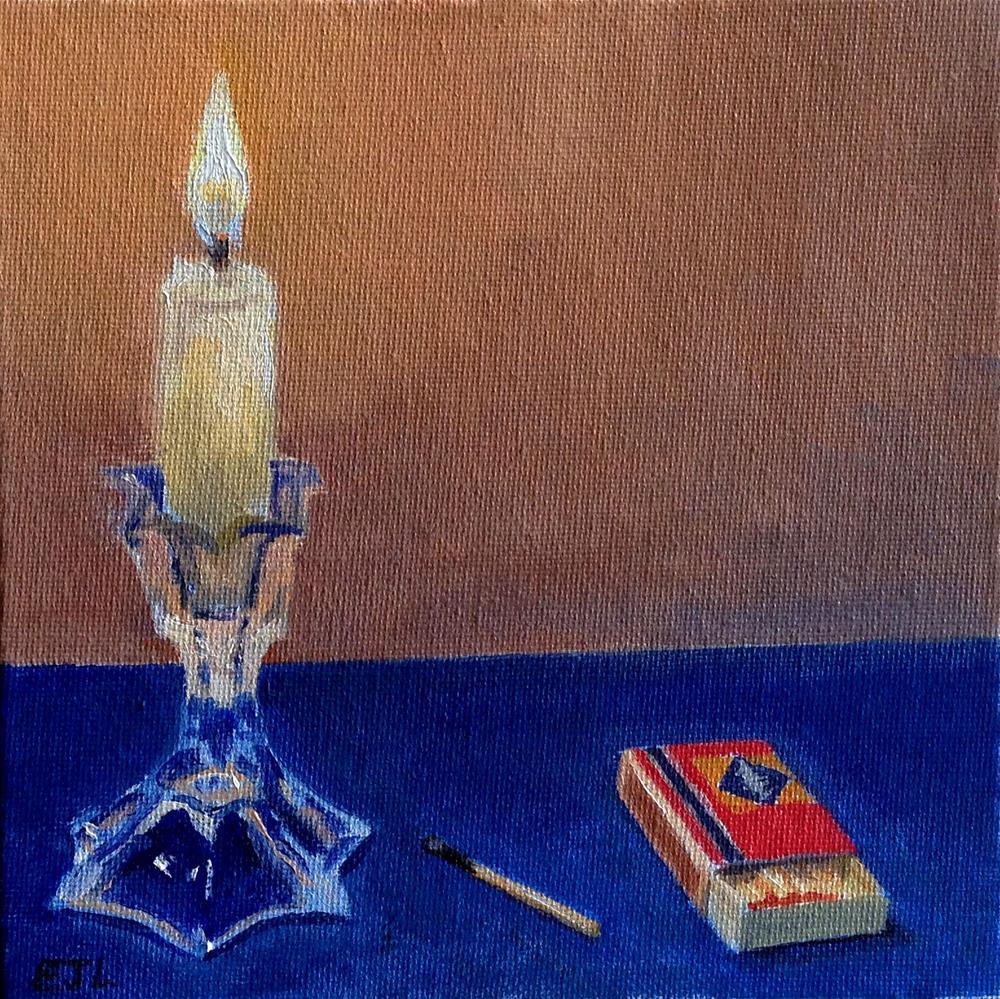 """Candlestick Spark"" original fine art by Eric Larson"