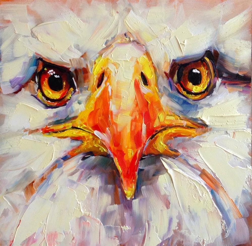 """""""ORIGINAL CONTEMPORARY BALD EAGLE PAINTING by OLGA WAGNER"""" original fine art by Olga Wagner"""