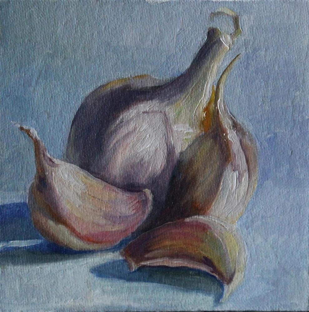 """Garlic"" original fine art by Neringa Maxwell"