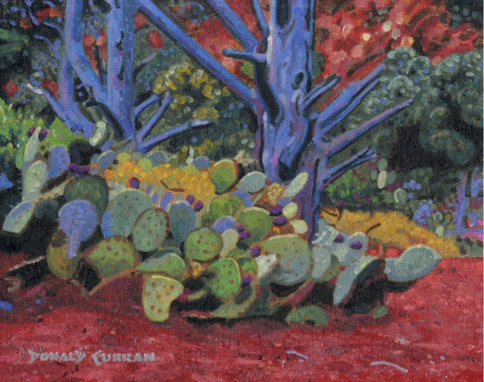 """Arizona Cactus Patch"" original fine art by Donald Curran"