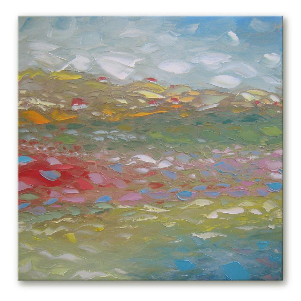 """Spring foothills"" original fine art by Elena Lunetskaya"