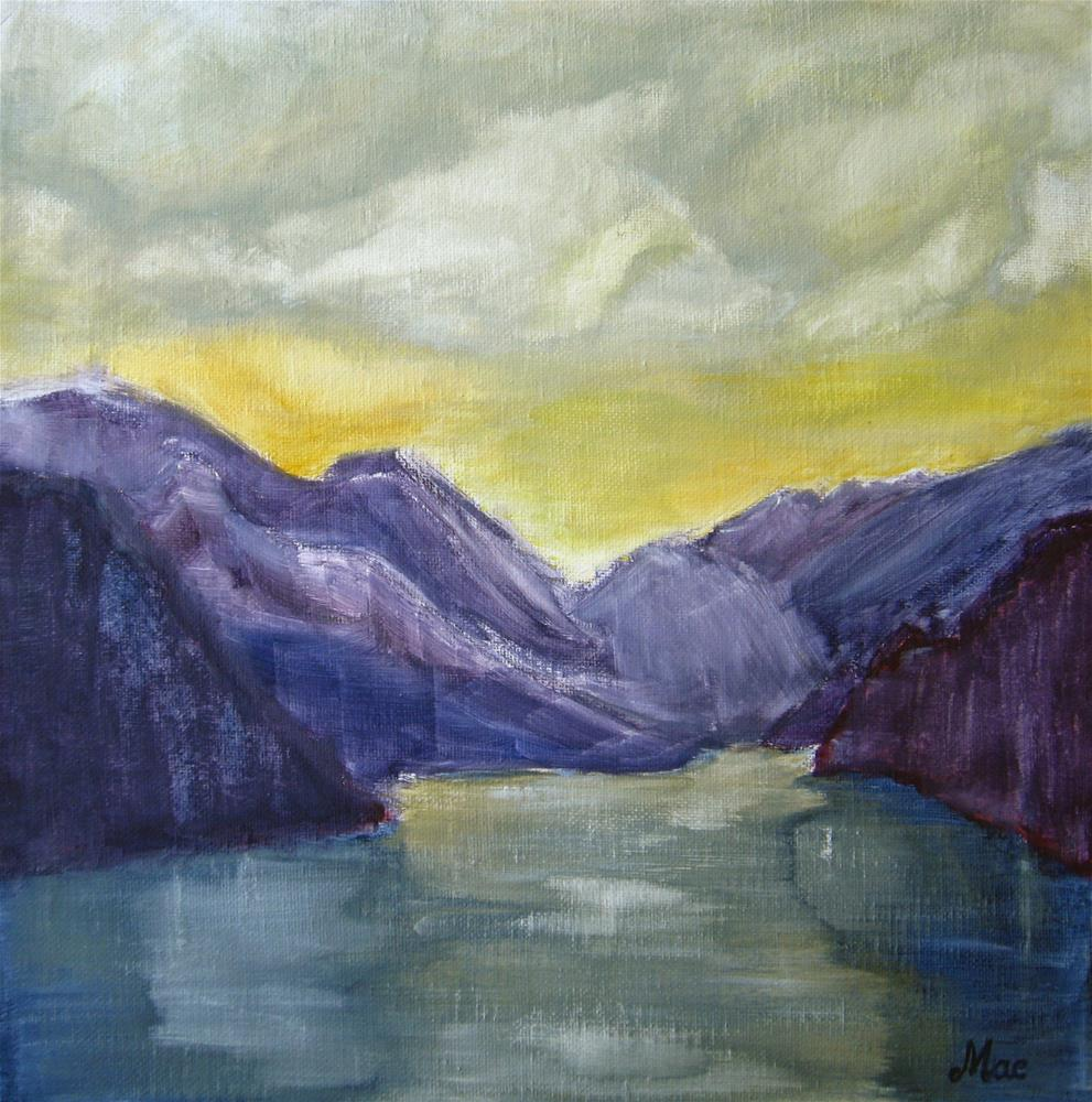 """The Fjord"" original fine art by Alina Frent"