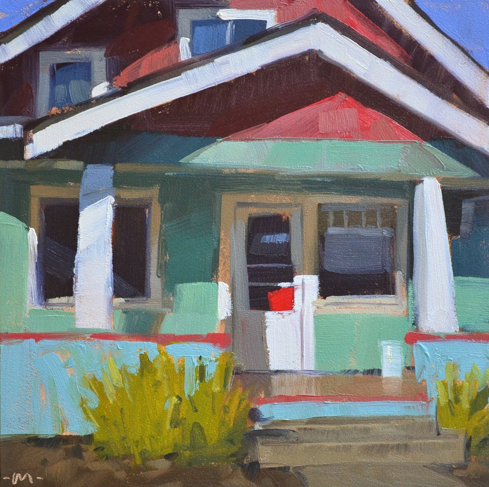 """Colorful House"" original fine art by Carol Marine"