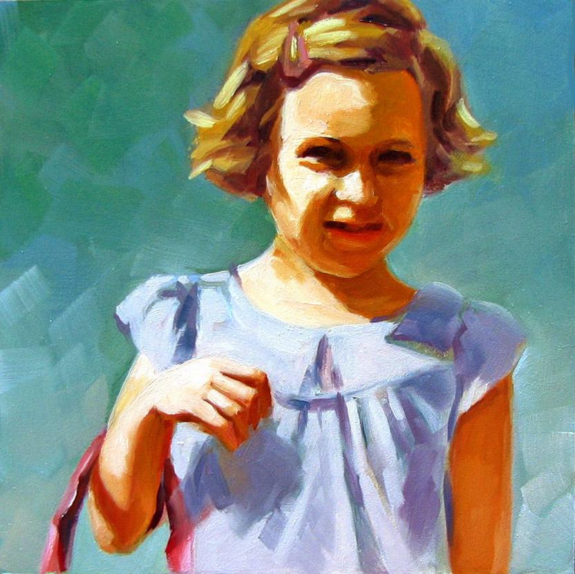 """Sunny Girl"" original fine art by Joanna Bingham"