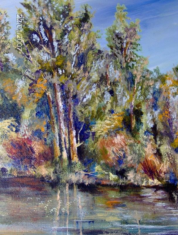 """Tou-Vale Park Rogue River OR."" original fine art by Norm Rossignol"