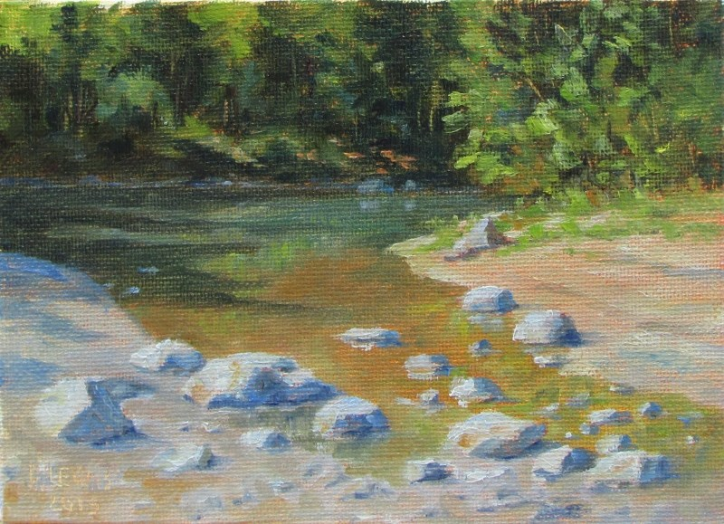 """Mendenhall Stream 2"" original fine art by Christine Lewis"