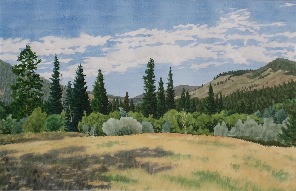 """Boulder Creek Valley"" original fine art by Greg Arens"